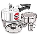 Neelam Dinner Set, Lunch box, Wall U Mug with Hawkins Pressure Cooker, Silver, 2 Litres, VG-NEELAM-BNDL-21