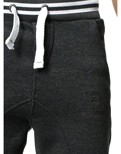 Akito Tanaka - Jogging Coton Homme 331 Gris - Gris - XXL  Amazon.fr   Vêtements et accessoires c6c2a9828cd