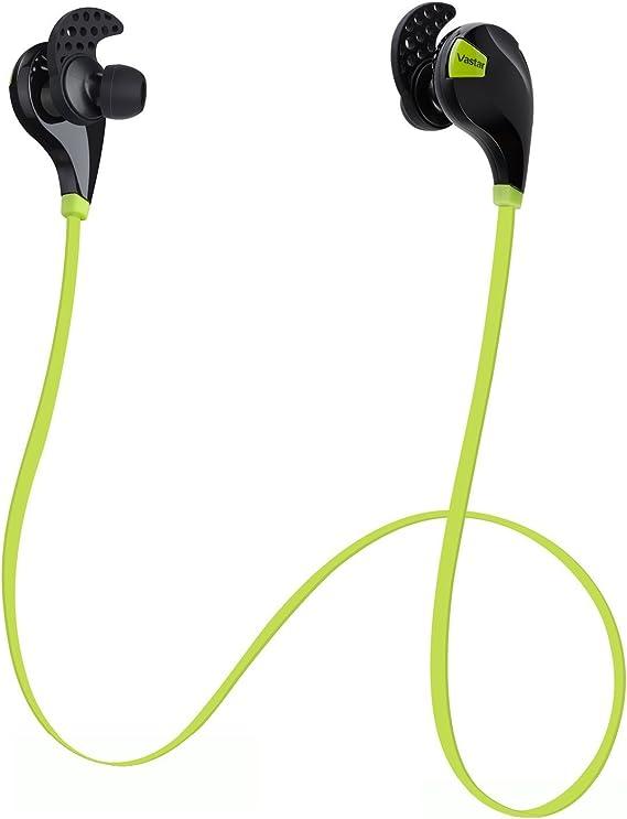 Bluetooth 4.0 Wireless Stereo Sweatproof Jogger Running Sport Earbuds AptX Mic