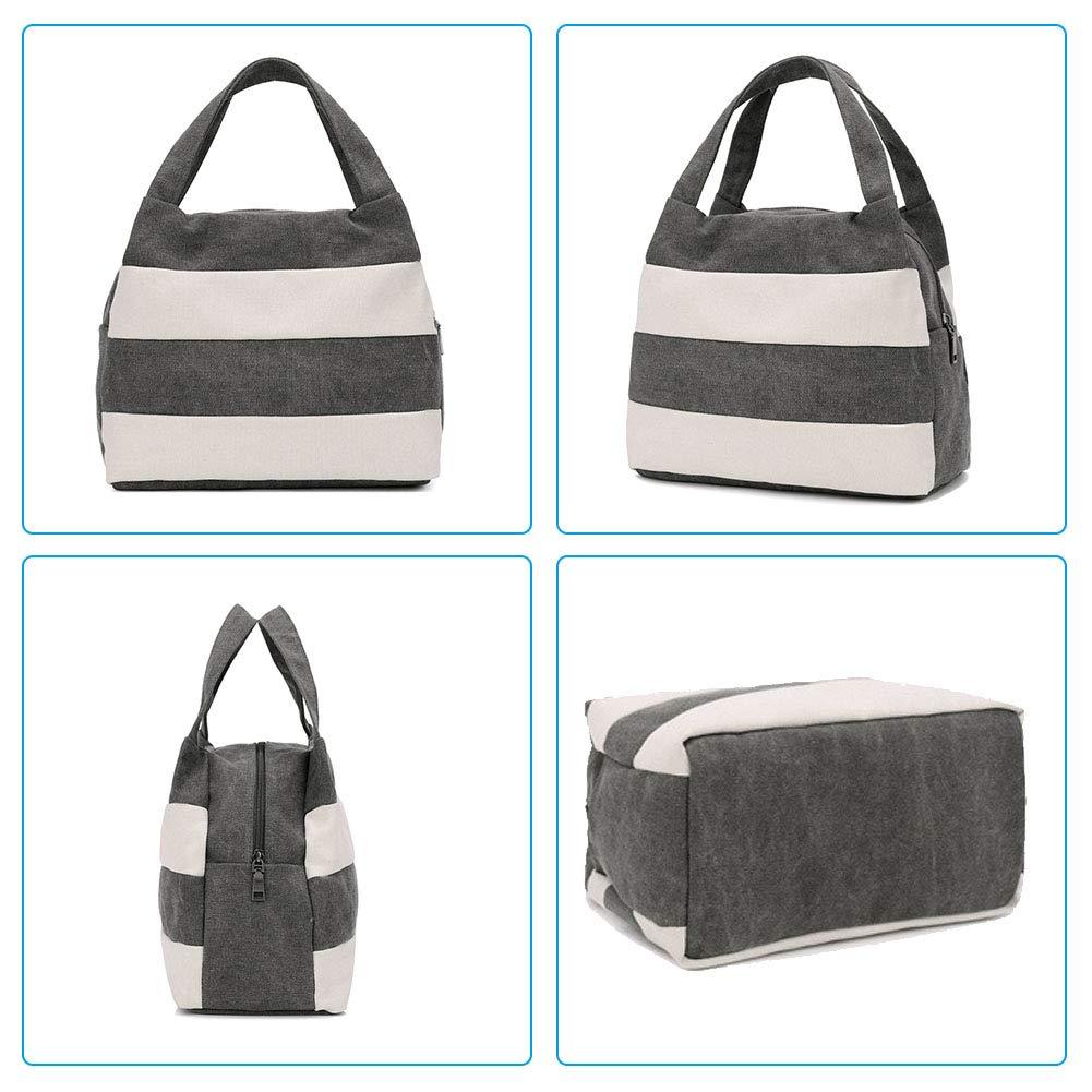 S.Charma Casual Fashion Boutique Crossbody bag Handbag Shopping Bag Womens Stripe Canvas Tote Bag