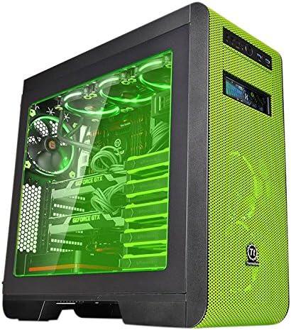 Thermaltake Core V51 Riing Edition Midi-Tower Negro, Verde - Caja de Ordenador (Midi-Tower, PC, SPCC, Negro, Verde, ATX,EATX,Micro ATX,Mini-ITX, Juego): Amazon.es: Informática