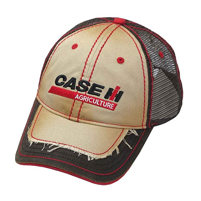 78df09e7fe1 Image Unavailable. Image not available for. Color  Case IH Distressed Two-Tone  Trucker Cap