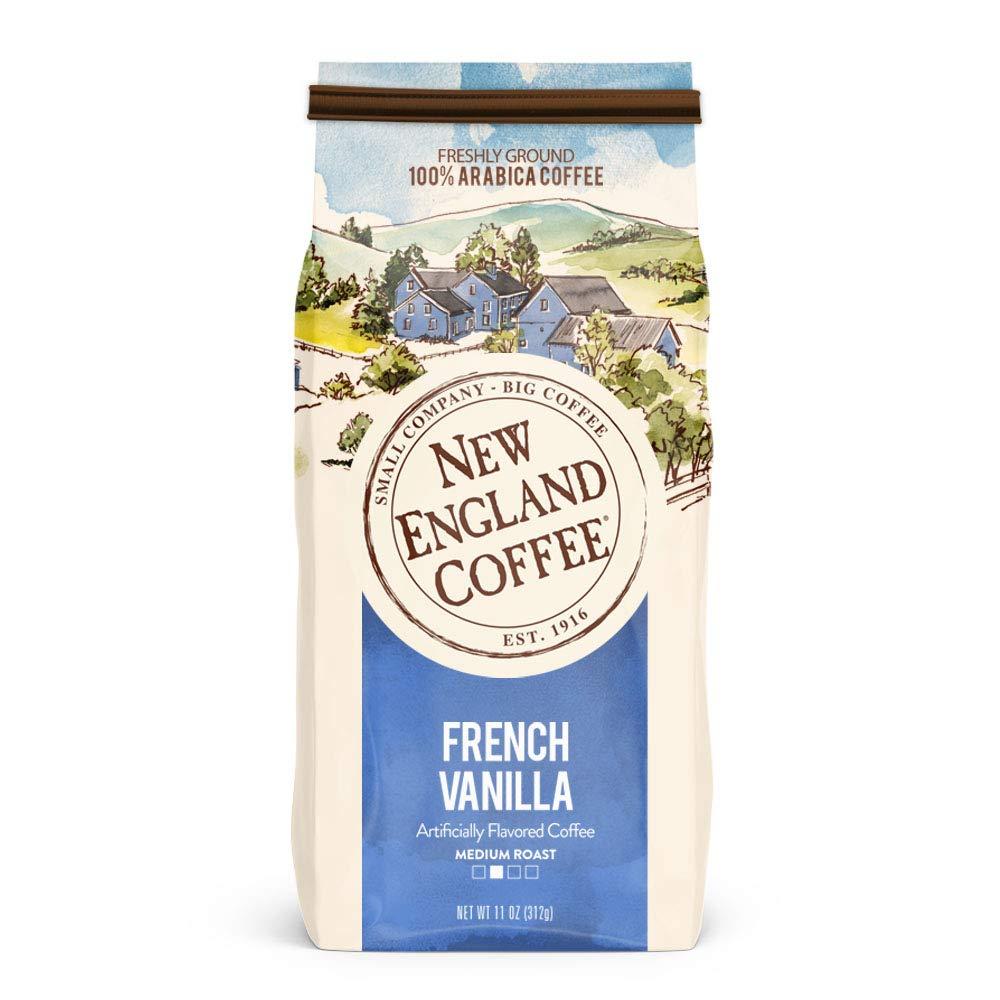 New England Coffee, French Vanilla, 11 oz Bag