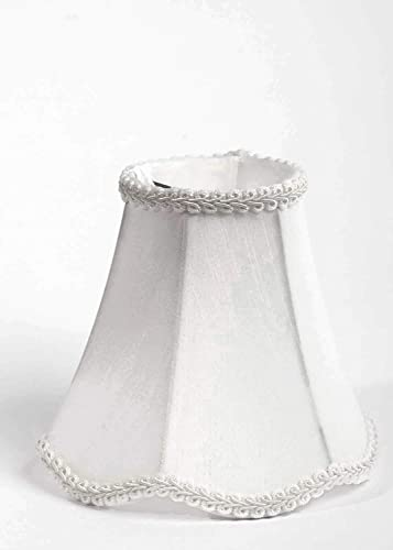 Urbanest 1100255b Scallop Chandelier Mini Shade 6-inch, Clip On, Off White, Set of 5