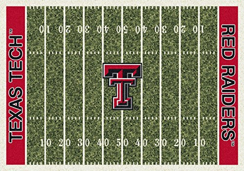Texas Tech Red Raiders NCAA College Home Field Team Area Rug (Texas Tech Red Raiders Floor)
