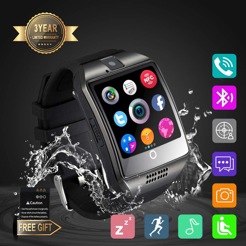 Smart Watch, Smartwatch Sweatproof Cell Phone SIM 2G GSM with Camera Support Sleep Monitor Push Message Anti Lost for Android HTC Sony Samsung LG ...