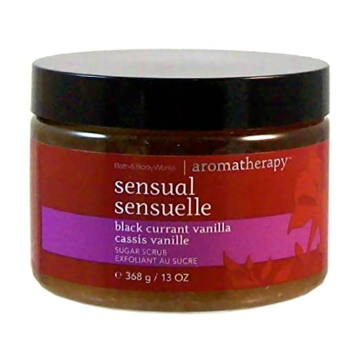 "Bath & Body Works Aromatherapy ""Sensual"" Black Currant Vanilla Sugar Scrub"