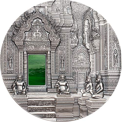 2019 PW Modern Commemorative PowerCoin TIFFANY ART Angkor 1 Kg Kilo Silver Coin 50$ Palau 2019 Antique Finish ()