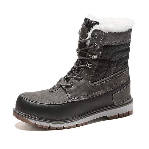 Botas de Hombre Impermeable Calzado Botas Invierno Nieve Botas Piel Transpirable Moda Invierno Botines: Amazon.es: Zapatos y complementos
