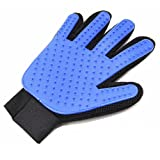 Pet Hair Remover Glove - Magic Pet Grooming Glove Brush - Efficient Deshedding Mitt - for Dogs Cats Horses - Long & Short Fur - Gentle Massage Tool with Soft Rubber Tips - Upgrade Version