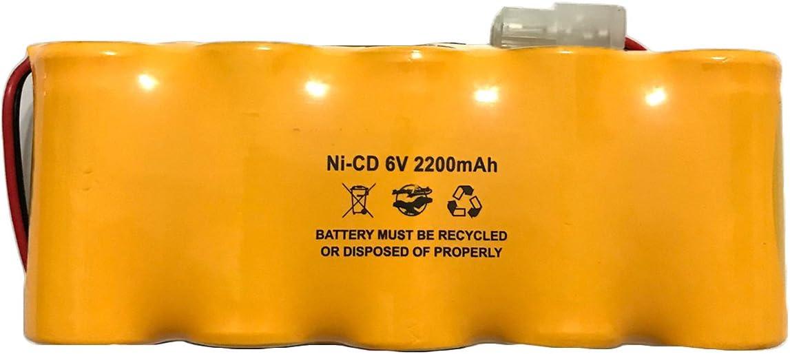 Lithonia ELB0604N1 ELB-0604N1 Prescolite ENB-0604 ENB0604 6v Ni-CD 2200mAh Exit Sign Emergency Light Battery Pack Replacement