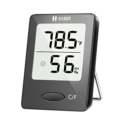 Amazon.com: Habor Digital Hygrometer Indoor Thermometer, Humidity ...