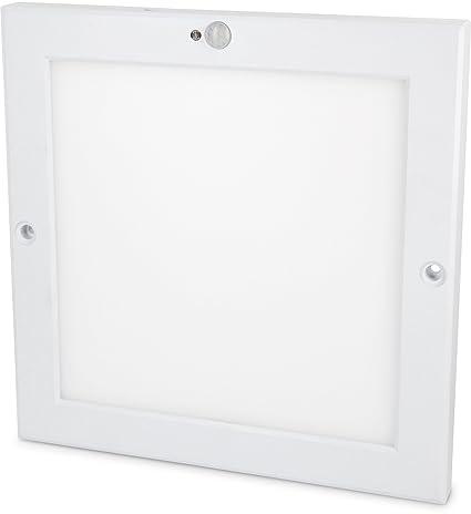 Panel sensor LED UltraSlim de 18 W, lámpara de techo con detector de movimiento y