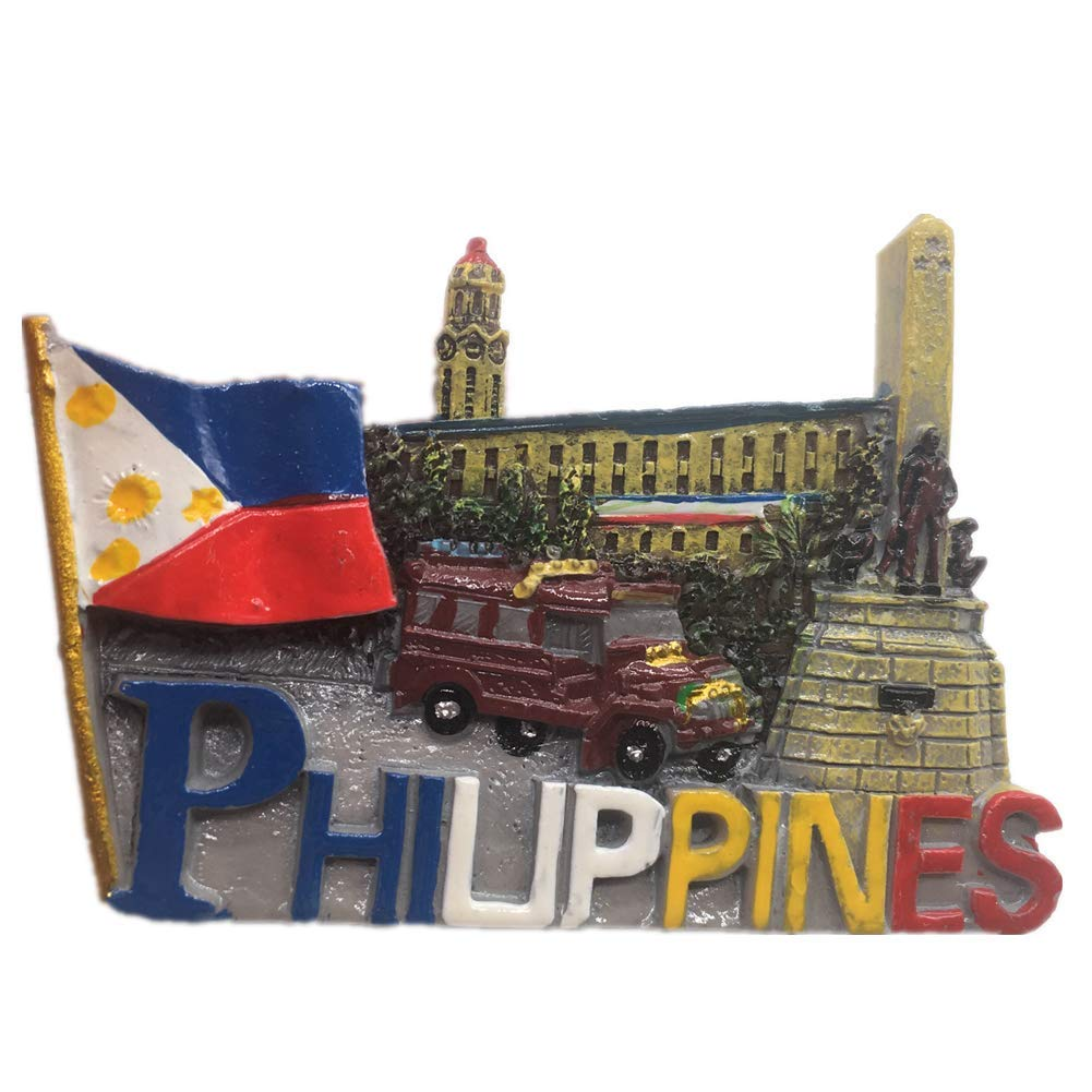 Fridge Magnet Manila Boracay Philippines 3D Resin Handmade Craft Tourist Travel City Souvenir Collection Letter Refrigerator Sticker
