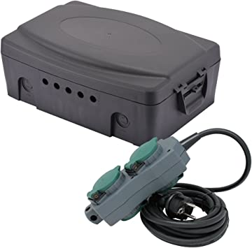 Electraline 300174 caja de parcheo eléctrico exterior resistente a ...