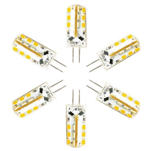 Bombilla LED G4 Lámpara 3W Equivalente a 30W, DC 12V Blanco cálido 3000K,24