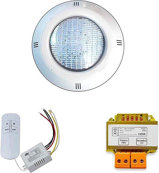 Warmpool Pack Focos LED RGB ON/Off 35W de Piscina + Mando a ...