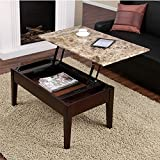 Coffee Table to Dining Table Dorel Living Faux Marble Lift Top Coffee Table