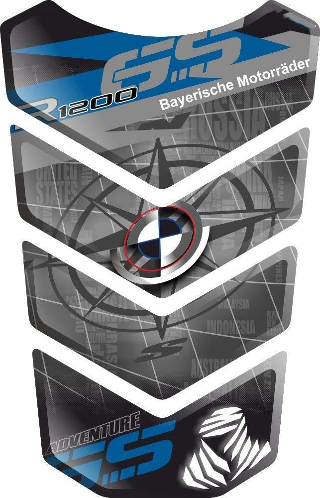 TANKSCHUTZ RESINATO EFFETTO 3D compatibile con BM.W R1200GS R 1200 R-1200-GS BM.W-R1200GS GS Adventure ADV GS-Adv v6 PROTECTION DE RESEVOIR TANKPAD PARASERBATOIO ADESIVO