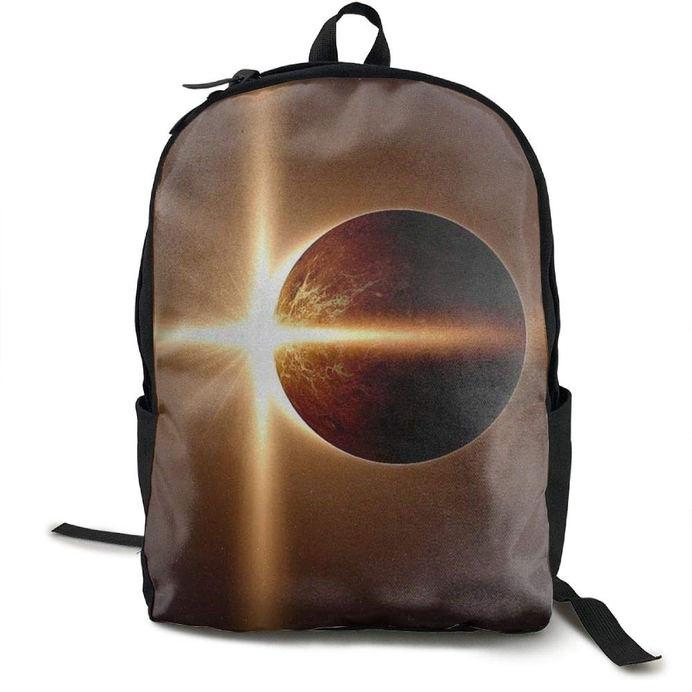 Zx7CAp3 Total Solar Eclipse Laptop Backpack Travel Computer Backpack School Book Backpack