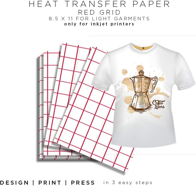 Cold Peel Inkjet Light Heat Transfer Paper-8.5x11 50 Sheets