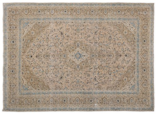 (Nakkas Antique Handwoven Kilim Persian Area Rug Beige 9'5'' X 13'0'')