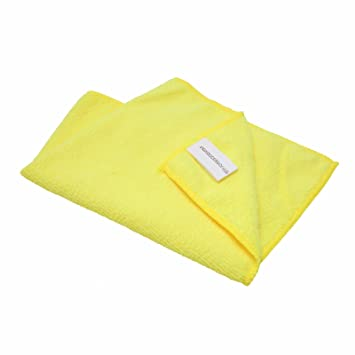 Inex amarillo coche limpieza Detailing Toallas de microfibra suave polaco paños sin pelusas de amarillo 12 x ix-mf-105: Amazon.es: Electrónica