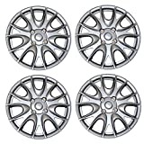 98 honda accord hubcaps - TuningPros WSC3-533S15 4pcs Set Snap-On Type (Pop-On) 15-Inches Metallic Silver Hubcaps Wheel Cover