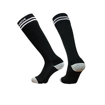 Ogeenier Calcetines de Fútbol para Hombre Compresión de Fútbol Calcetines Deportes Football Socks Knee High Calcetines Performance Algodón Calcetines,3 ...