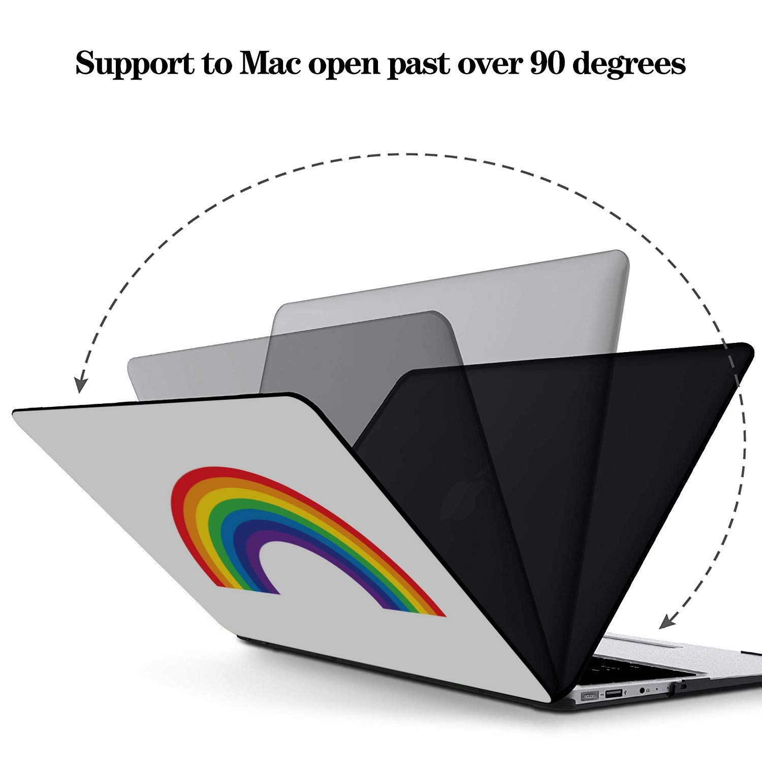 Mac Air Case Colorful Bright Rainbow Cartoon Plastic Hard Shell Compatible Mac Air 11 Pro 13 15 MacBook Pro Case 2018 Protection for MacBook 2016-2019 Version