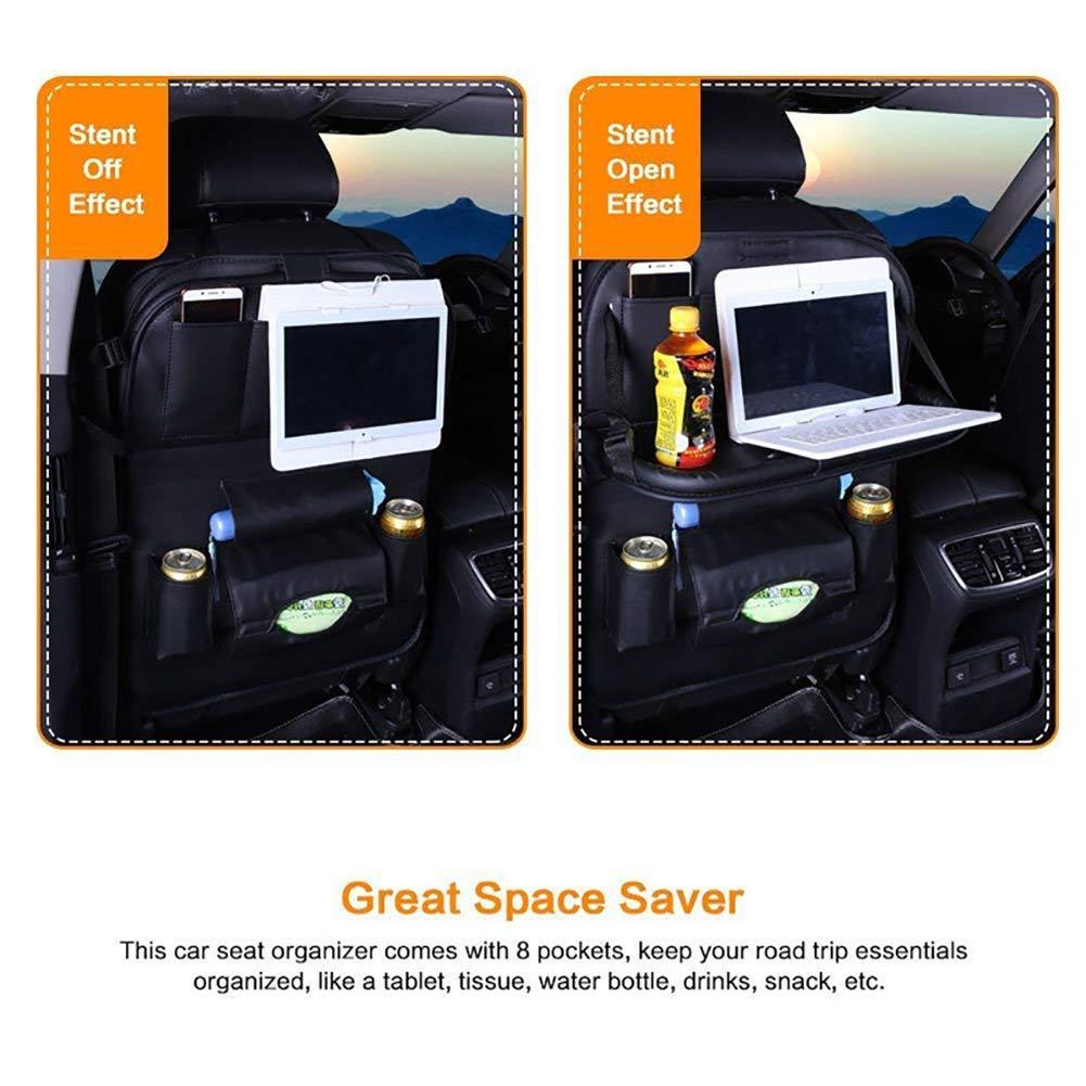 Black GDAUTO Car Backseat Organizer 1 Pack Car Seat Back Storage Multifunction Storage Pocket with Tablet Holder for Travelling Storage Bottles Toys and etc