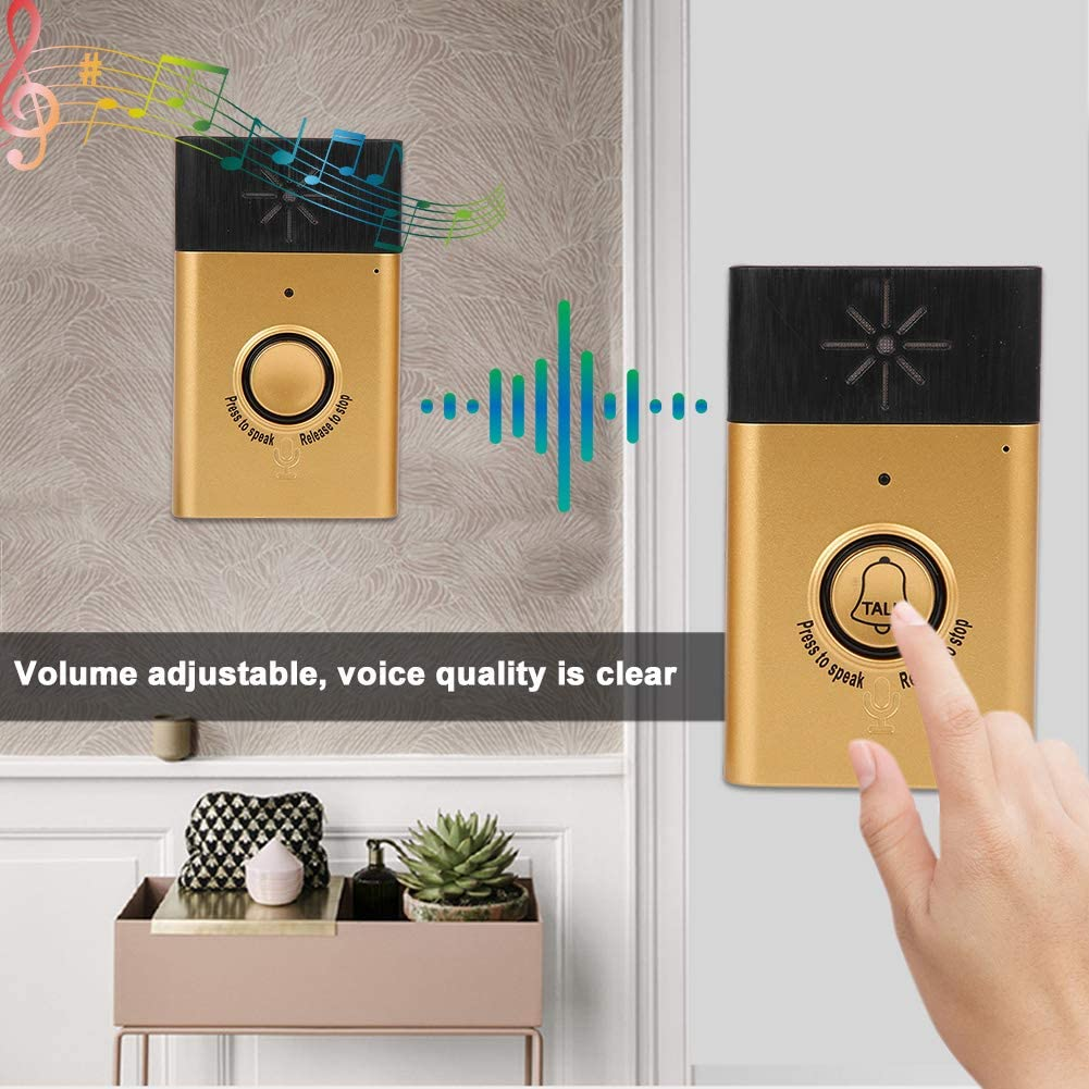 Details about  /Wireless Doorbell Intercom Transmitter Voice Chime Home Security Monitoring