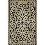 Liora Manne RV081A24004 Torello Mirror Area Rug, Indoor/Outdoor, Room Size, Ocean