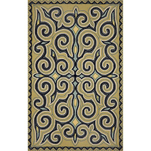 Liora Manne RV081A24004 Torello Mirror Area Rug, Indoor/Outdoor, Room Size, Ocean by Liora Manne