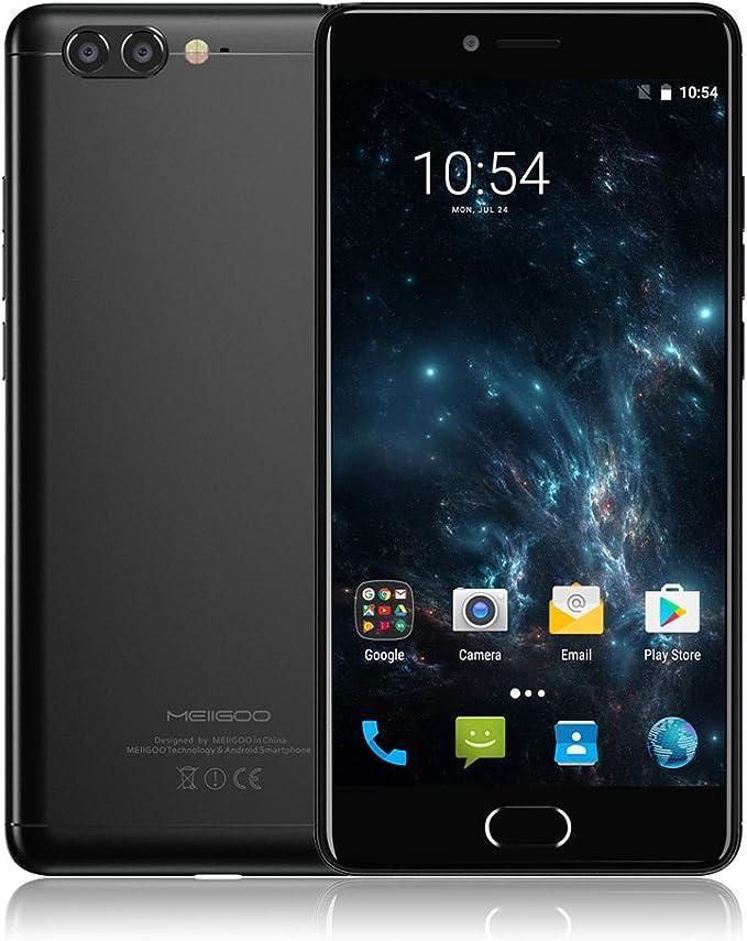 Meiigoo M1 4G LTE Smartphone Huella Dactilar Android 7.0 Pantalla 5.5 Pulgadas 6GB RAM 64GB ROM Helio P20 MTK6757V Octa-Core 2.3GHz 1920 * 1080P 8MP+13MP 4000mAh Cuerpo de Metal: Amazon.es: Electrónica