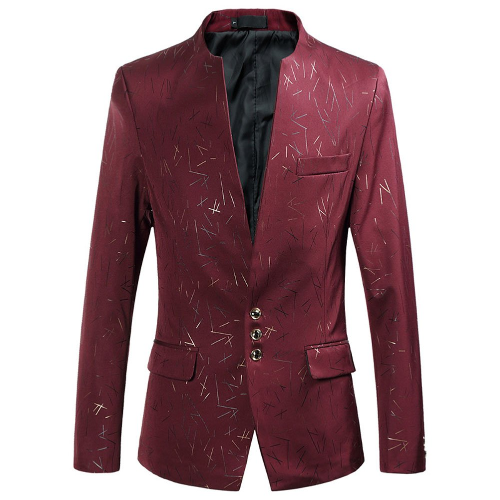 Leader of the Beauty Male Blaze Casual Slim Fit Jackets Stage Suit Men Suits for Party Outwears