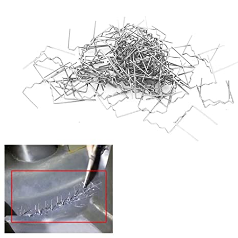 Delaman 0.6mm Auto Bumper Repair Pre Cut Soldadura Grapas Kit de Herramientas de Reparación 100