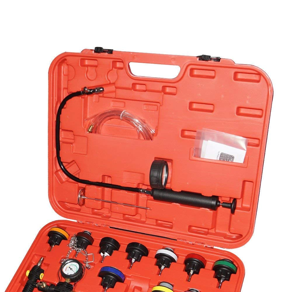 SHIOUCY Radiator Pressure Tester and Vacuum Type Universal Cooling System Kit Universal 28pcs 28-pcs