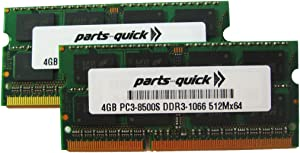 8GB 2 X 4GB Memory for Apple MacBook Pro Core 2 Duo 2.66 GHz 17