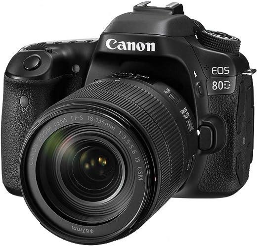 Canon Digital SLR Camera EOS 80D 24.2MP + EF-S 18-135mm f/3.5-5.6 Image Stabilization USM Lens Kit