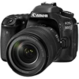Canon EOS 80D Kit with EF-S18-135mm f/3.5-5.6 IS USM DSLR Digital Camera, Black