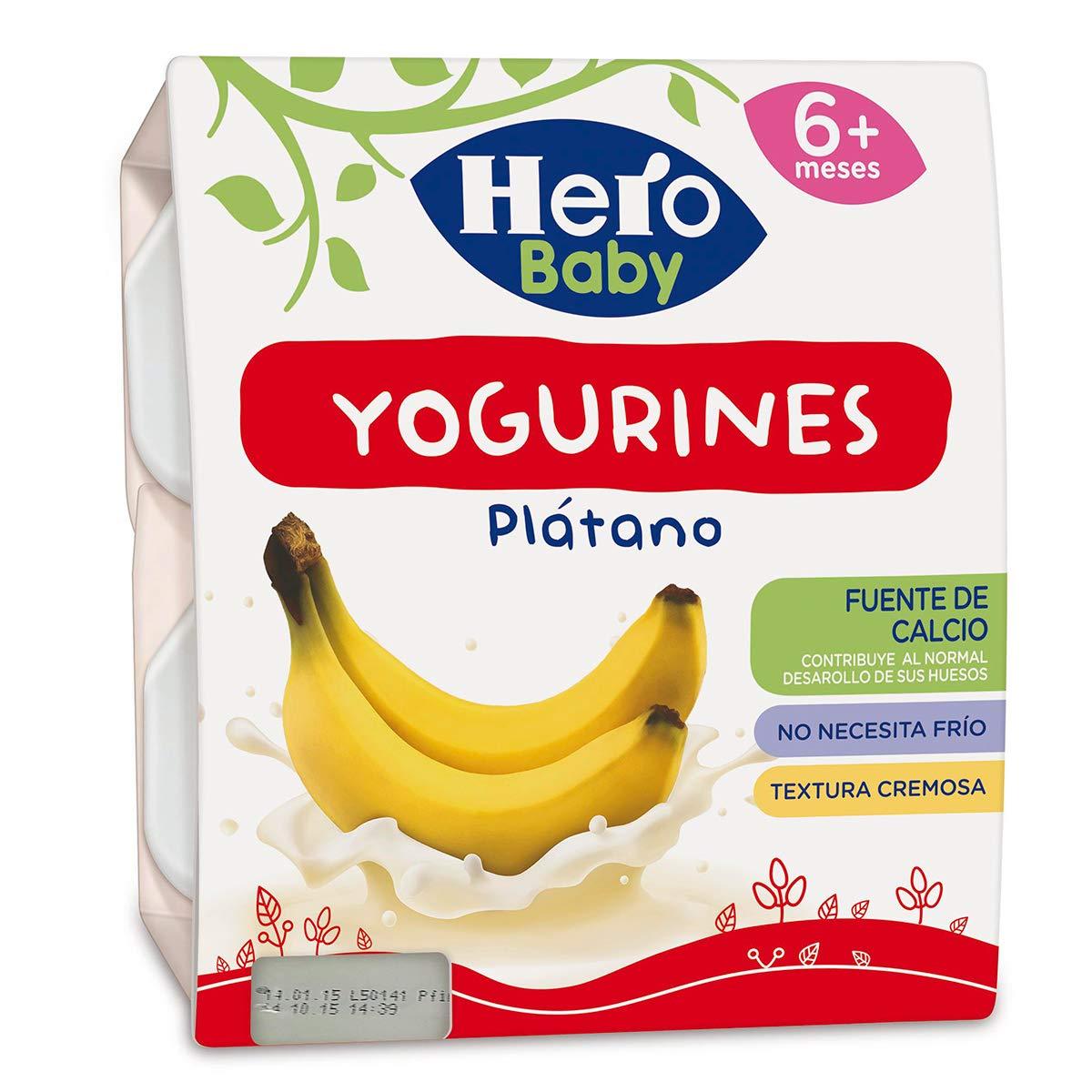 Hero Baby Yogurines Tarrinas de Yogur de Plátano para Bebés a ...