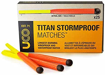 25//pack UCO Titan Stormproof Matches 3 packs