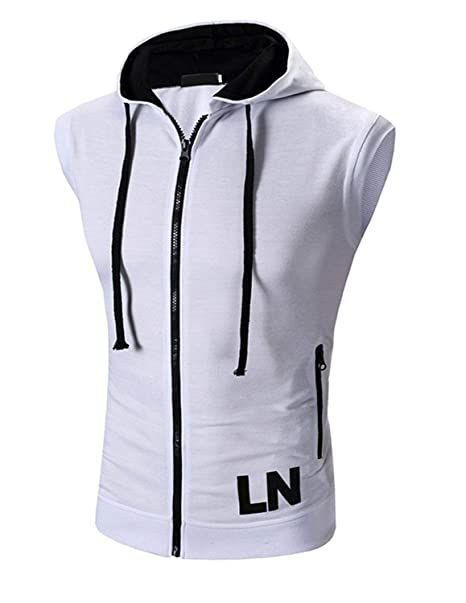 Boom Fashion Hombres Camiseta Sudaderas con Capucha Sin Mangas Casual Deporte Fitness T-shirt: Amazon.es: Ropa y accesorios