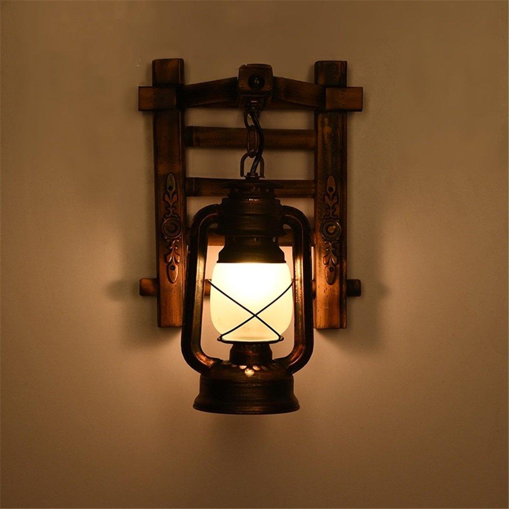 HEYUN Vintage-Holz-Wandlampe Antike Lampen kreative Persönlichkeit