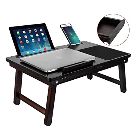TOP MAX Laptop Tray Table Stand Portable Desk Bed Sofa Tablet Phone Stand  Reading Adjustable
