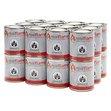 amazon com real flame 24 pack of 13 oz gel fuel cans for fireplace rh amazon com
