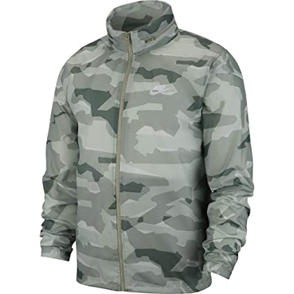 5d8199a44730 Amazon.com  Nike NSW Camo Windrunner Jacket - Green White - L  Sports    Outdoors