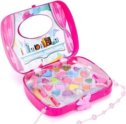 Anself Kit de Maquillaje para Niña, Estuche de Maquillaje, Maquillaje de Princesa Cosmética Multicolores Niña para Actividades como Fiestas de Princesas y Cumpleaños: Amazon.es: Belleza