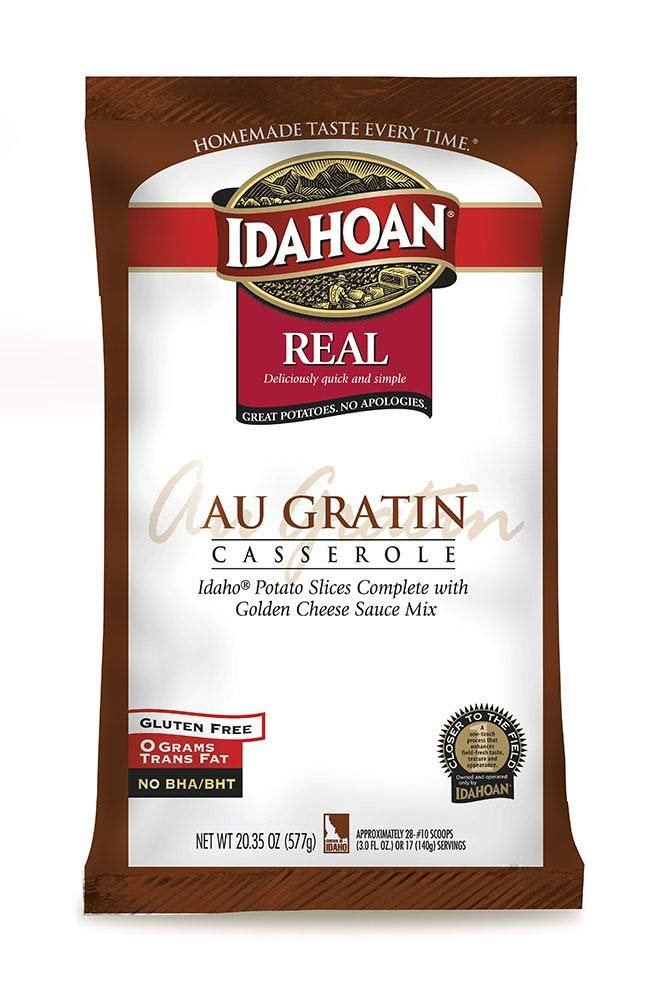 Idahoan Real Au Gratin Casserole Potatoes, 20.35 Ounce - 12 per case.